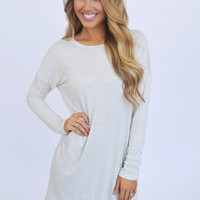 Solid Long Tunic- Oatmeal