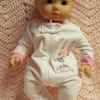 "15 inch Baby doll outfit ""Little Beauty"" Will fit Bitty Baby® Bitty Twins®  dress leggings socks headband ballet bunny B10"
