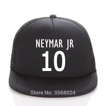 NEYMAR JR Caps Football Fans Trucker Cap Custom Soccer Name Adult/Child Baseball hats DIY 10 neymar cap Fans Sun Snapbacks