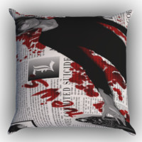 Death Note Z1215 Zippered Pillows  Covers 16x16, 18x18, 20x20 Inches