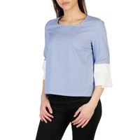 Imperial Blue Sleeves Striped Top