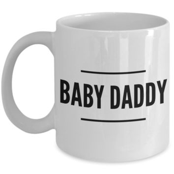 New Dad Gifts Ideas Funny Coffee Mugs - Baby Daddy Ceramic Coffee Cup