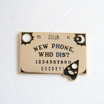 new phone, who dis? ouija board pin | enamel pin | lapel pin