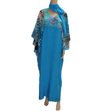 Tilapia 2017 Fashion Kaftan Lady Big Dress African Women Big Sleeves Print Dress Africa Sexy bazin riche ankara style dress
