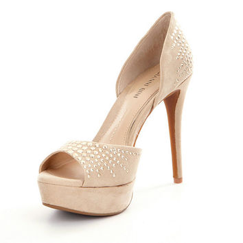Gianni Bini Aleezah Studded Peep-Toe d´Orsay Pumps | Dillards