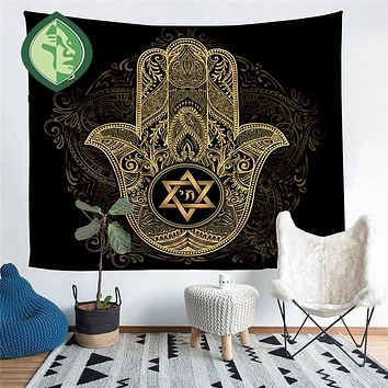 Large Hamsa Hand Home Decor Tapestry Wall Art 60 x 51""