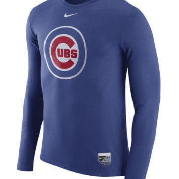 Chicago Cubs Nike Authentic Collection Blend Performance Long Sleeve T-Shirt