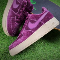 Nike Air Force 1 '07 Low Velvet Purple Sport Shoes Women AF1 Sneaker 849345-601 - Best Online Sale