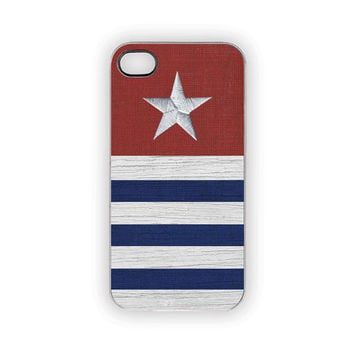 Nautical Patriotic iPhone Case 5S 5 4S 4 Stars Stripes Sailing Red White Blue Americana USA Summer Memorial Day The 4th of July Labor Day