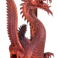 Wood Dragon Sculpture - The Guardian | NOVICA