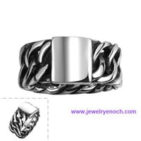 Handmade Various Design Epoxy Steel Material New Model Ring