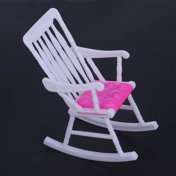 1pcs Rocking Chair Accessories for Barbie Dolls Kids Girls Role Play Toys Gift Chair Furniture for Barbie Dolls House Decoration