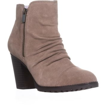 White Mountain Taft Zip Up Ankle Boots, Light Taupe, 9.5 US