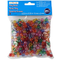 Creatology™ Pony Beads, Translucent Assorted