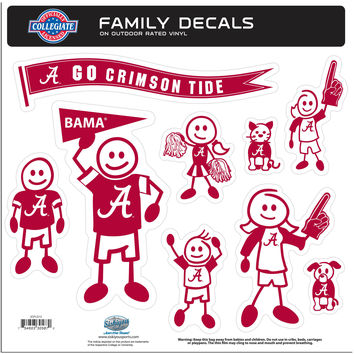 NCAA Team Family Decal Set Large