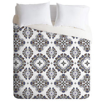 Andi Bird Butterfly Ornamental Beige Duvet Cover