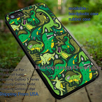 Cartoon Dinosaur Pattern | Green | Animal | Dinosaur | Dinosaur Pattern | Cartoon | case/cover for iPhone 4/4s/5/5c/6/6+/6s/6s+ Samsung Galaxy S4/S5/S6/Edge/Edge+ NOTE 3/4/5 #cartoon ii