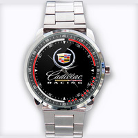 Cadillac History Theme Custom Stainless Steel Watch