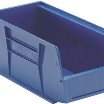 """Quantum Storage Systems Stack And Hang Bin, 10-7-8"""" X 5-1-2"""" X 5"""", Blue"""
