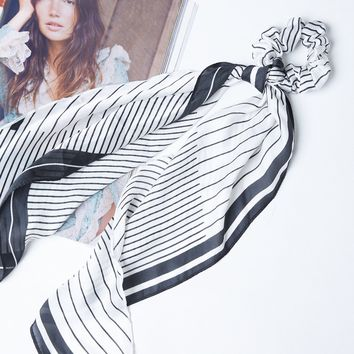 All Stripes Scarf And Scrunchie Set