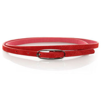 Cute Red Skinny Belt