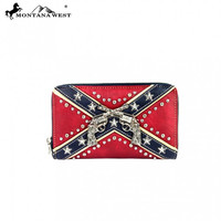 Montana West Rebel Flag Six Shooter Wallet