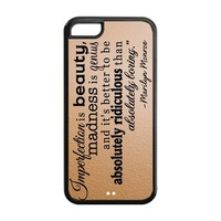 Fashion Marilyn Monroe Quote Personalized iPhone 5C Rubber Silicone Case Cover -CCINO
