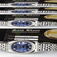 ROLEX - Ladies 18kt White Gold & SS DATEJUST Blue DIAMOND 179174 - SANT BLANC