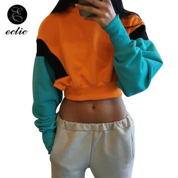 KPOP BTS Bangtan Boys Army Pastel Color Block Hoodie Poleron Mujer 2018 Sweatshirt Crop Top Hoodie Women Harajuku Kawaii Stylish Hoodies  Patchwork  AT_89_10