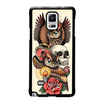 OWL STEAMPUNK ILLUMINATI TATTOO Samsung Galaxy Note 4 Case Cover