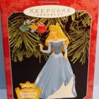 1998 Princess Aurora Hallmark Disney Retired Ornaments Set/2