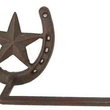 Cast Iron Star Toilet Paper Holder