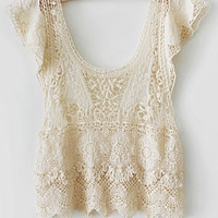 Casual crochet pullover shirt handmade short-sleeve sweater Knitwear