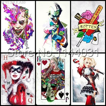 Harley Quinn Suicide Squad Poster 5D DIY Diamond Painting Diamond Embroidery Cross Stitch Full Rhinestone Mosaic Wall Sticker
