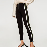 LEGGINGS WITH DOUBLE SIDE STRIPE DETAILS