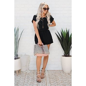 Hanging Out Romper (Black)