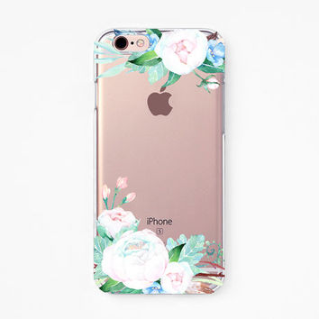 iPhone Rubber Case - Ranunculus - iPhone 6s case, iPhone 6 case, iPhone 6+ case Valentine Gifts - Clear Flexible Rubber TPU case J25