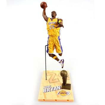 New arrive NBA star limited edition Kobe Bryant   Action Figure Model Toys Collections Dolls Christmas present for boy