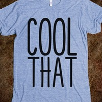 Couples Shirt: (We're) Cool (Like) That-Athletic Blue T-Shirt