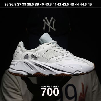 Best Online Sale Kanye West x Adidas Calabasas Yeezy Boost 700 Runner Sport Shoes Running Shoes White