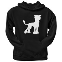 Chinese Crested Silhouette Black Adult Hoodie