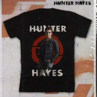 Hunter Hayes, Black Unisex Crew Neck Tee, (T-Shirt, Medium) BRAND NEW SEALED