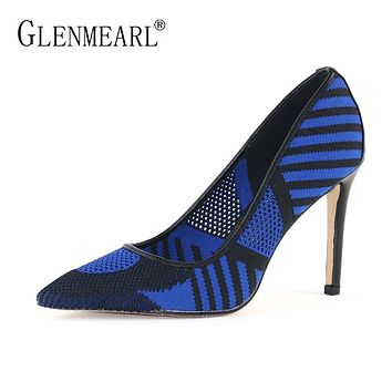 Woman Spring Plus Size Pointed Toe High Heels