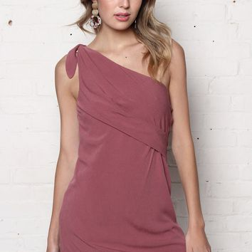 Gentlefawn Chrysanthe One Shoulder Dress - Berry