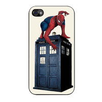 doctor dr who spiderman case for iphone 4 4s