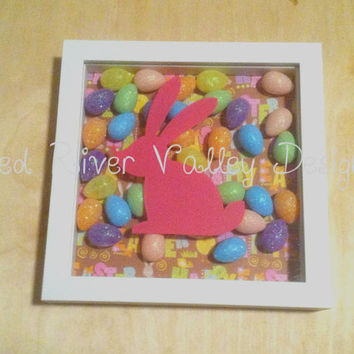 Easter shadow box, Easter decor, shadow box art, Easter decorations