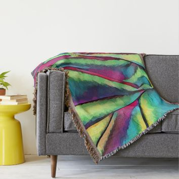 Silk Fabric Abstract still life Art Throw