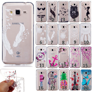 Slim Clear Soft Silicone TPU Rubber Gel Back Case Cover For Samsung Galaxy J3(2016) J310