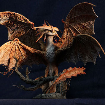 Made TO ORDER Cloudjumper Dragon Sculpture HTTYD 2 figurine How to train your dragon 2 fantasy animal creature art sculpture magic gif