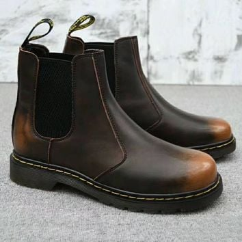Dr. Martens Chelsea Boots Fashion Winter Waterproof Boots Martin Leather Boots Shoes G-A0-HXYDXPF